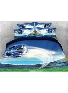 Vivilinen 3D Flying Soccer Ball Printed Cotton 4-Piece 5-Piece Comforter Sets