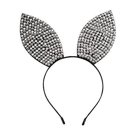 Rhinestone & Pearl Bunny Ears Headband, One Size , Multiple Colors