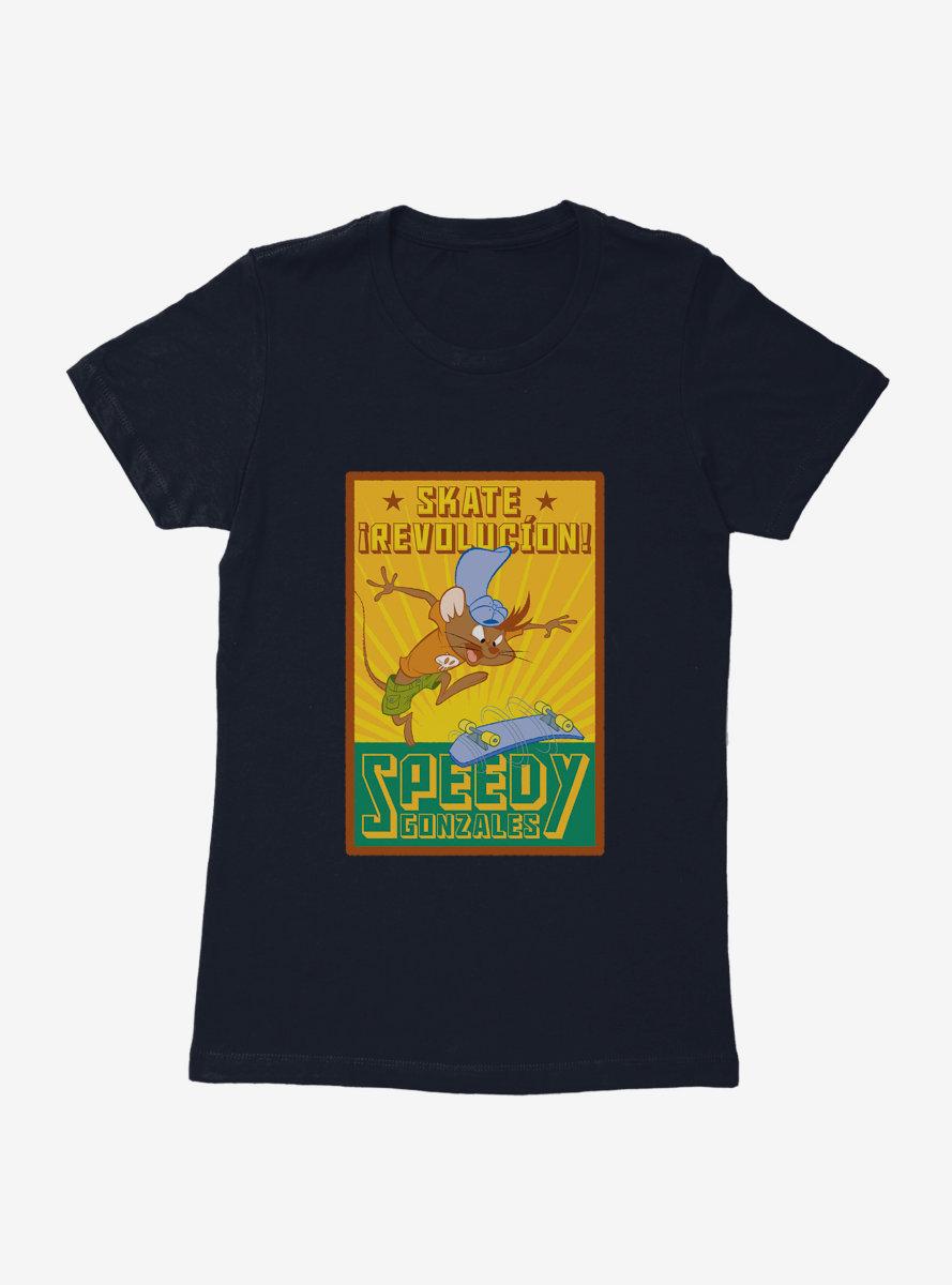 Looney Tunes Speedy Gonzales Skate Revolucion Womens T-Shirt