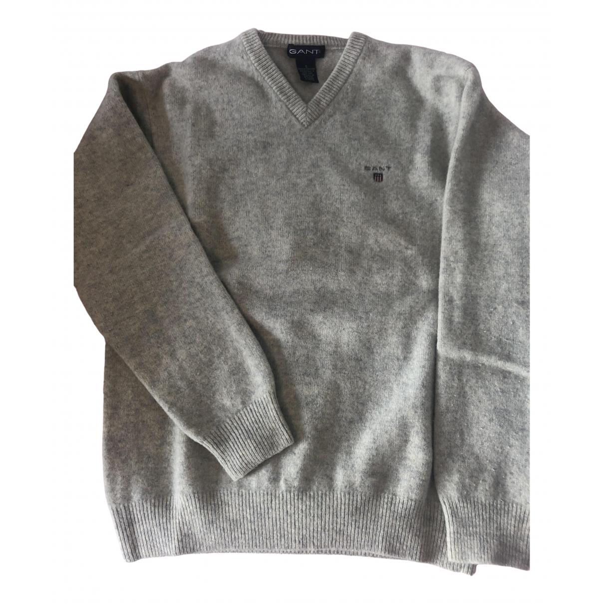 Gant - Pull   pour femme en coton - gris