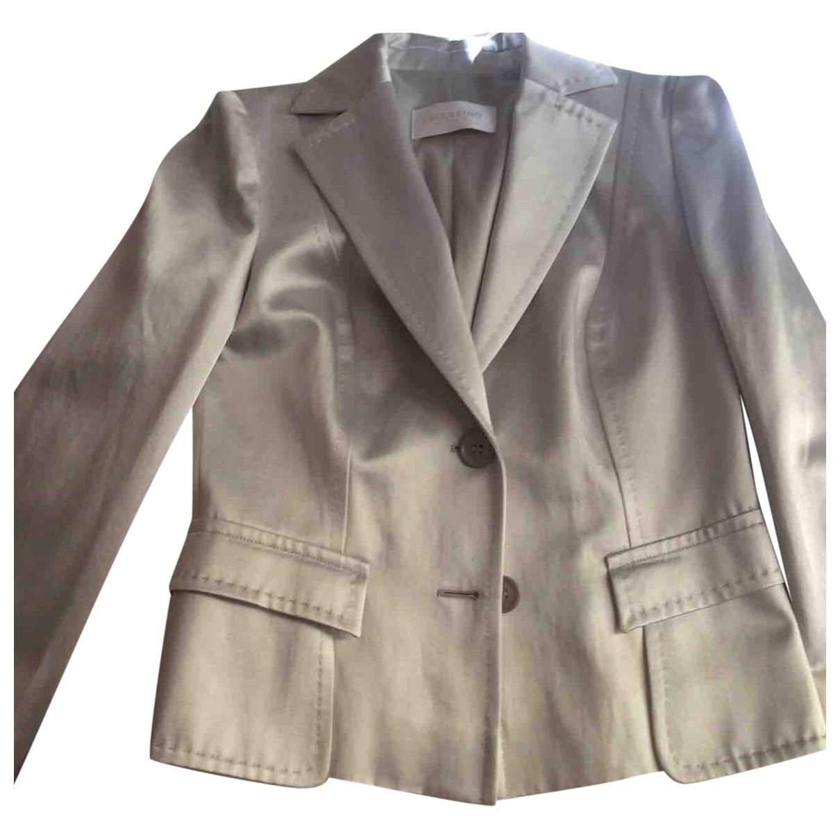 Valentino Garavani \N Grey Cotton jacket for Women 42 IT
