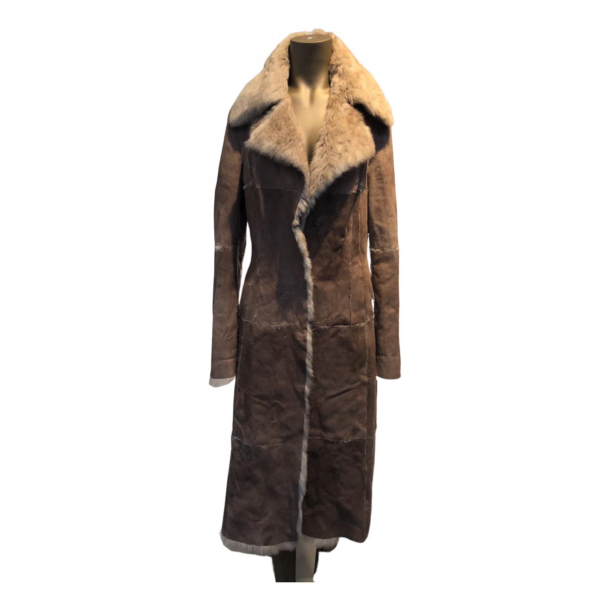 Non Signé / Unsigned N Camel Fur coat for Women 40 IT