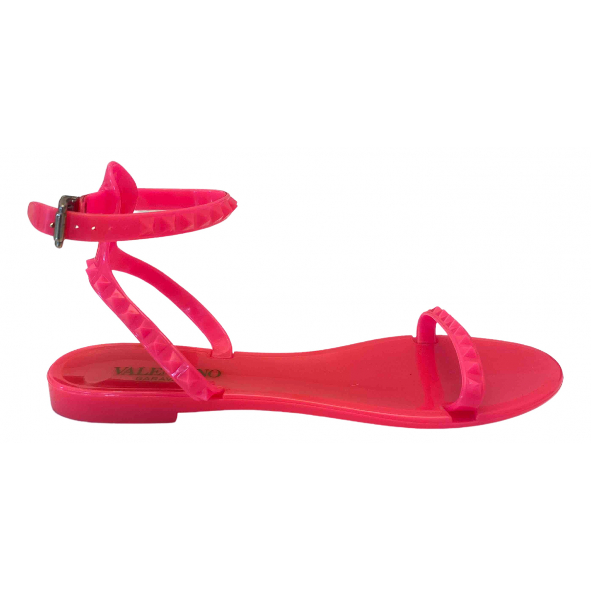 Valentino Garavani N Pink Sandals for Women 38 EU