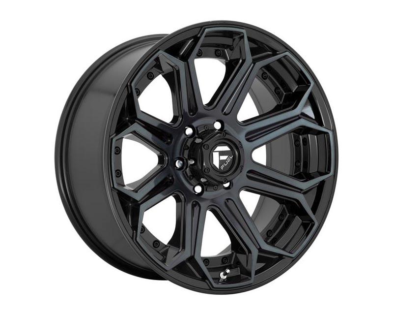 Fuel D704 Siege Wheel 18x9 8x165.1 1 Gloss Machined Double Dark Tint