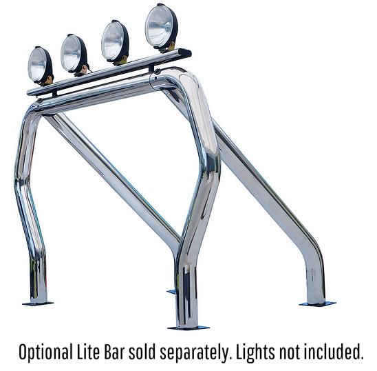 Go Rhino 9709560SSS! Bed Bars- Single Bar/Single Kicker (Between Wheel Wells) Dodge