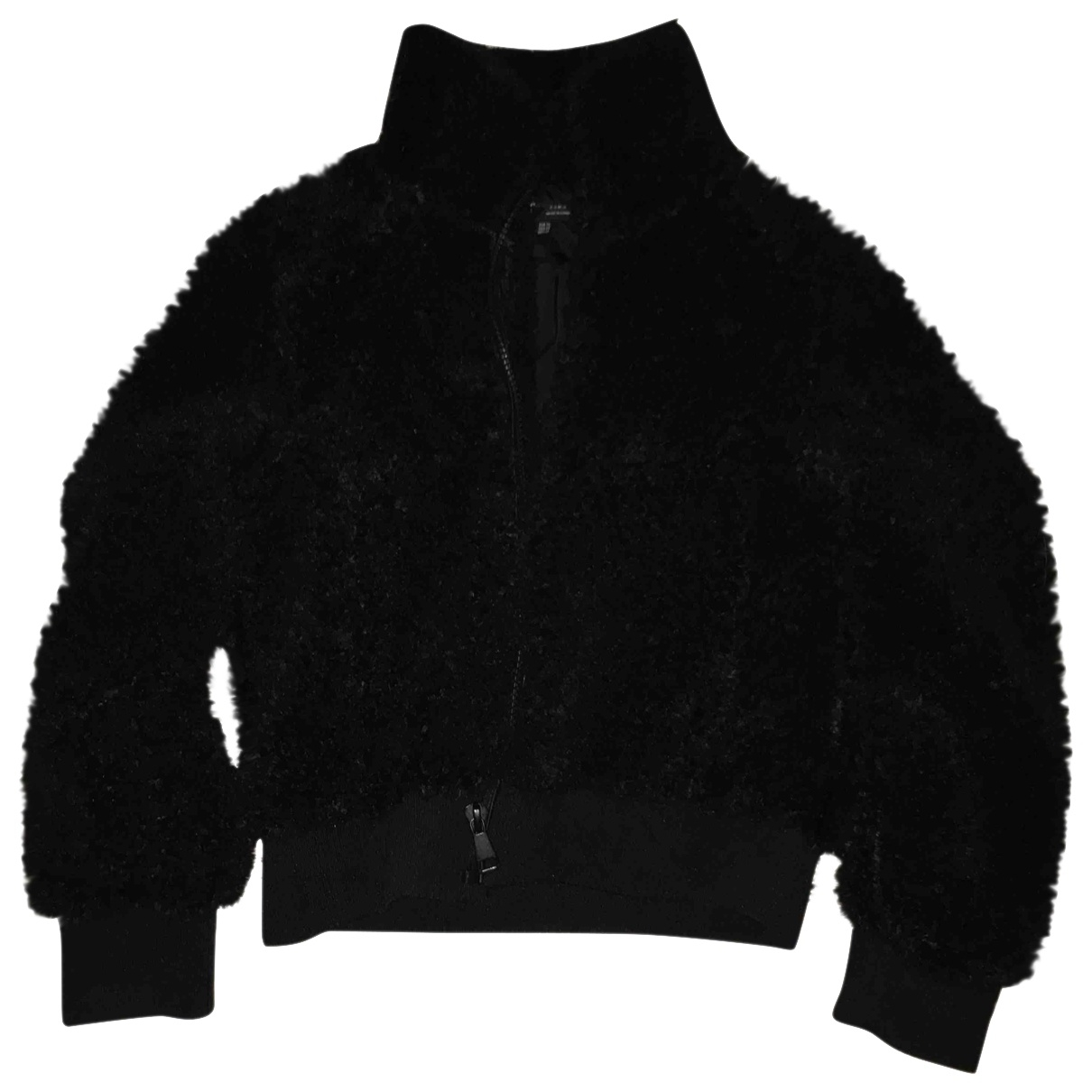 Zara \N Black Faux fur jacket for Women XS International