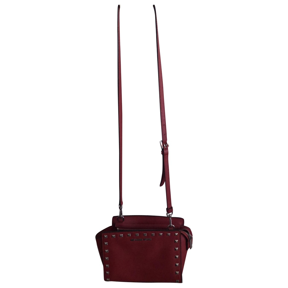 Michael Kors Selma Red Leather Clutch bag for Women \N