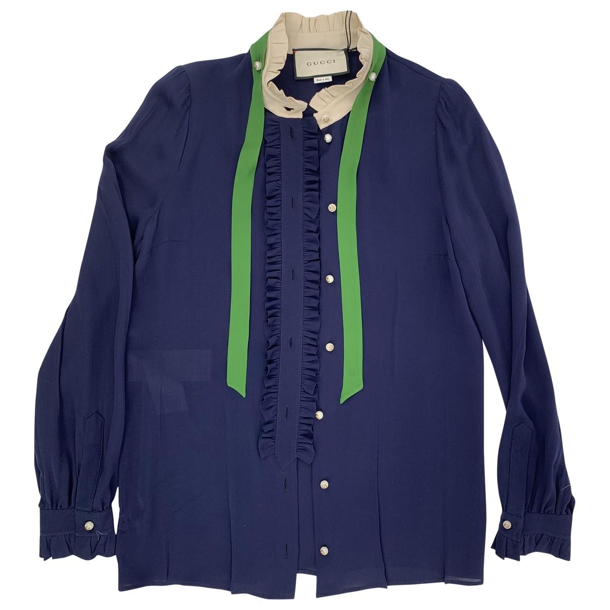Gucci \N Top in  Blau Seide