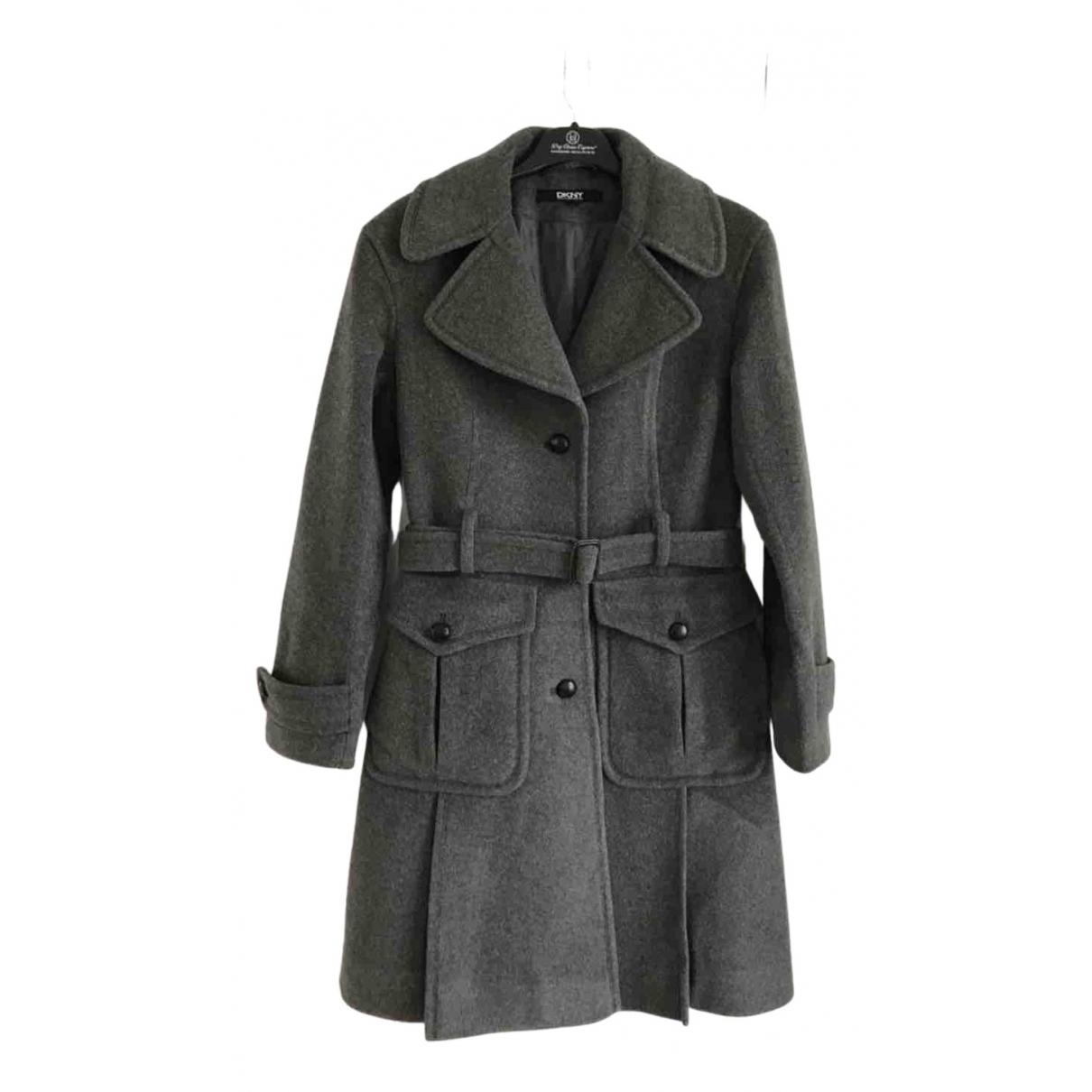 Dkny - Manteau   pour femme en cachemire - gris