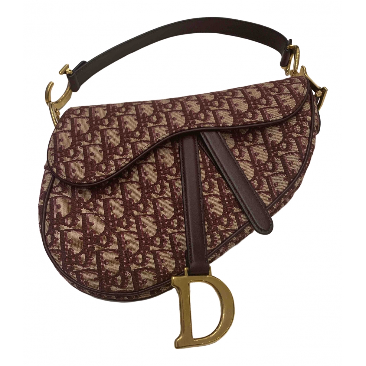 Dior Saddle Burgundy Cloth handbag for Women \N