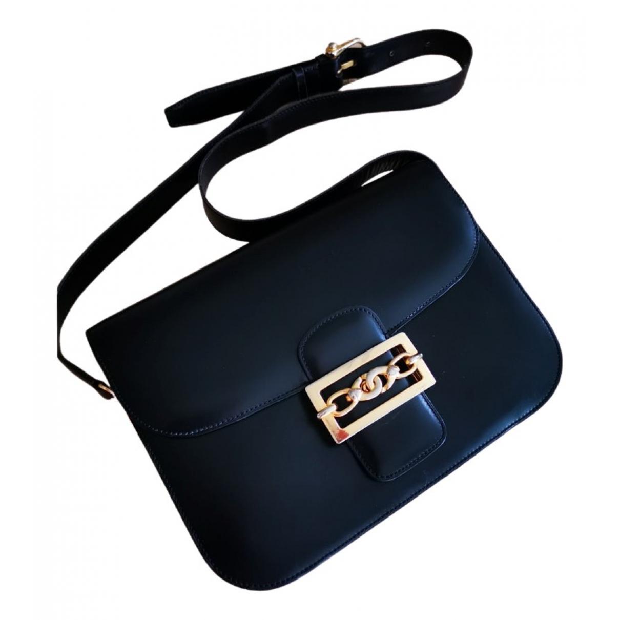 Celine Triomphe Vintage Black Leather handbag for Women \N