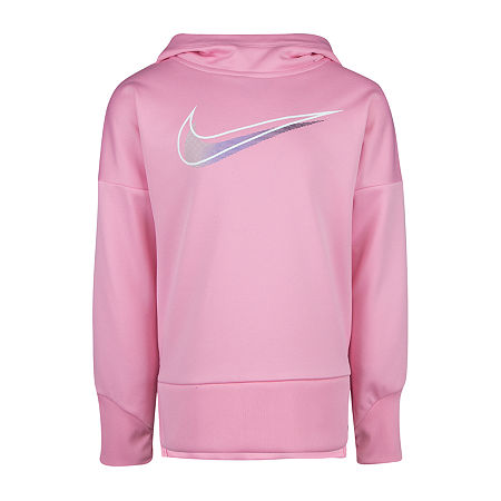 Nike Little Girls Hoodie, 6x , Pink