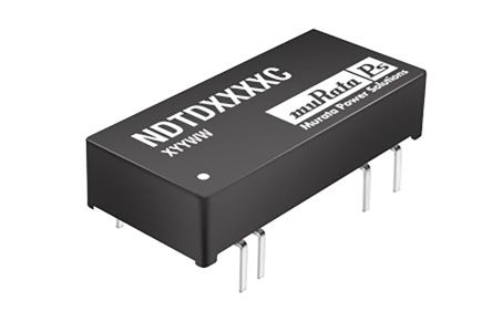 Murata Power Solutions NDTD 3W Isolated DC-DC Converter Through Hole, Voltage in 9 → 18 V dc, Voltage out ±5V dc