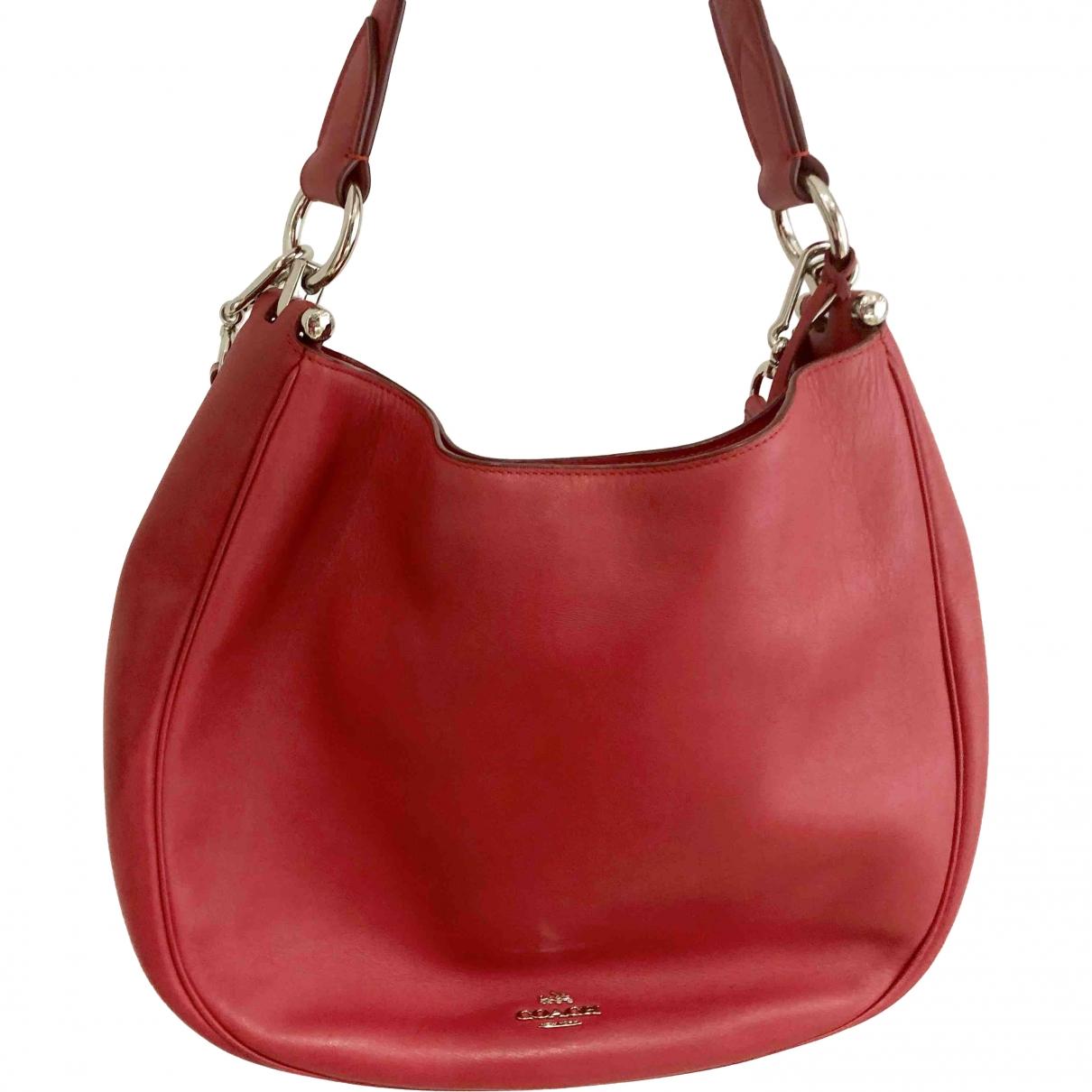 Coach \N Red Leather handbag for Women \N