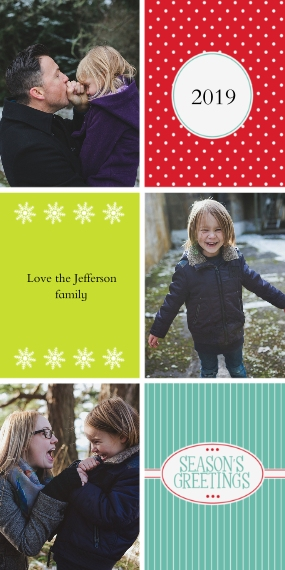 Holiday Photo Cards 4x8 Flat Card Set, 85lb, Card & Stationery -Cheerful Greetings