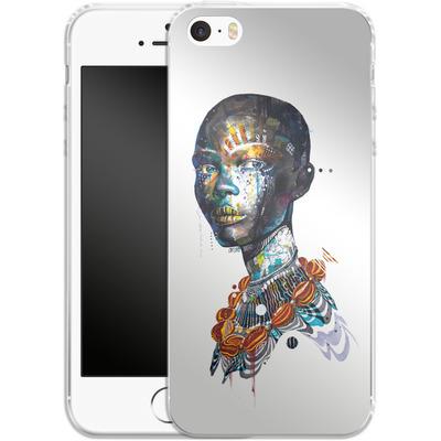 Apple iPhone 5s Silikon Handyhuelle - Zebra von Minjae Lee