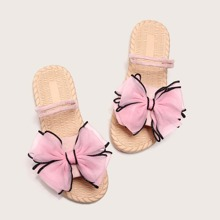 Bow Decor Two Way Wear Slippers