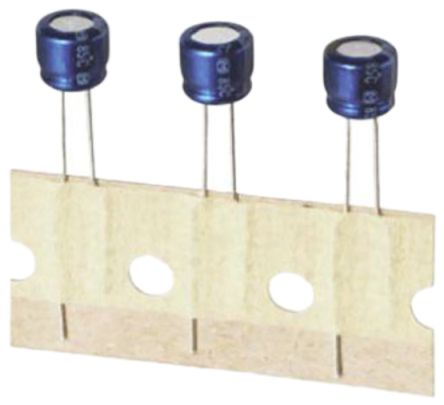 Panasonic 2.2μF Electrolytic Capacitor 100V dc, Through Hole - ECA2AAM2R2X (50)