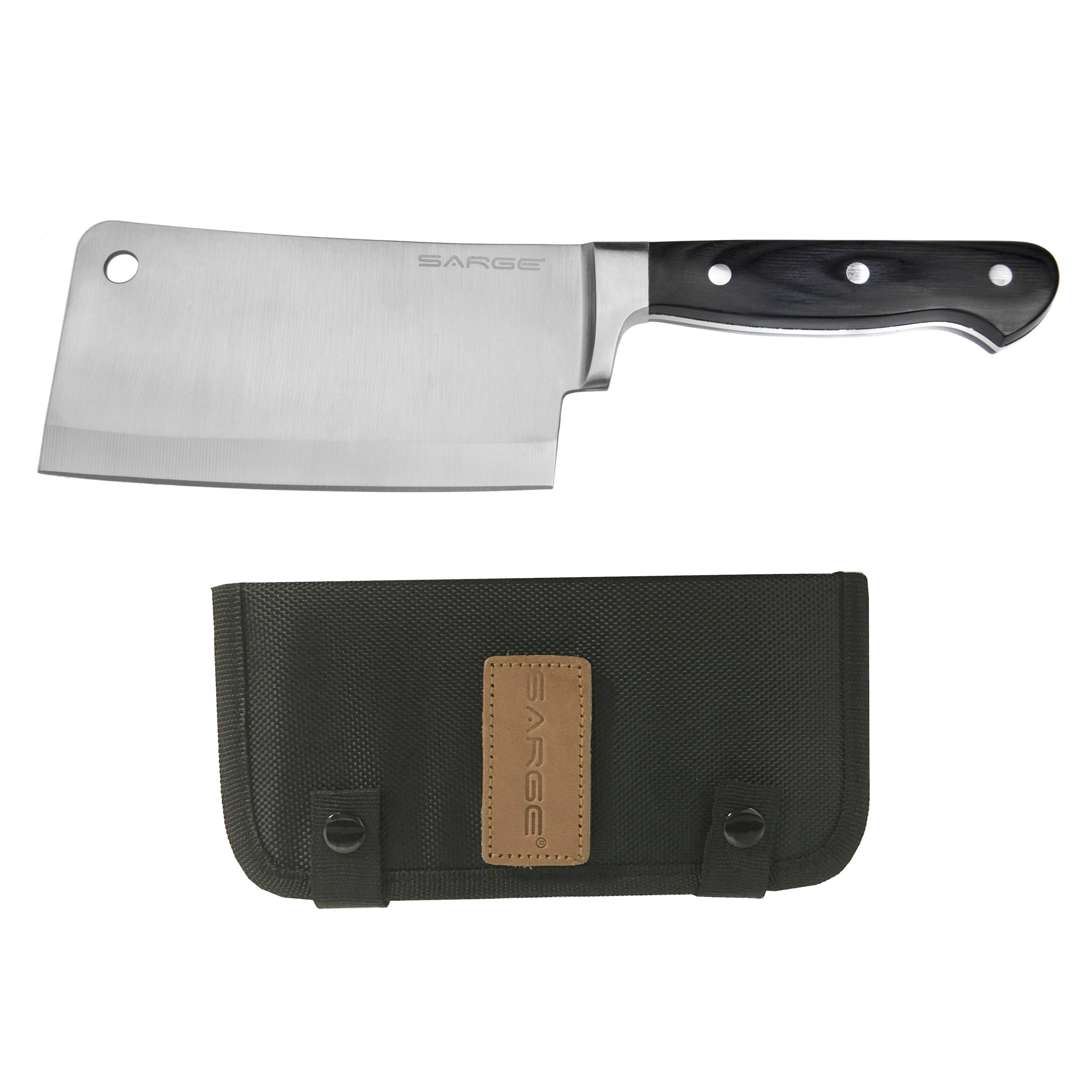 Chop - Cleaver with Sheath, Kitchen Grade Stainless Steel 6-1/4