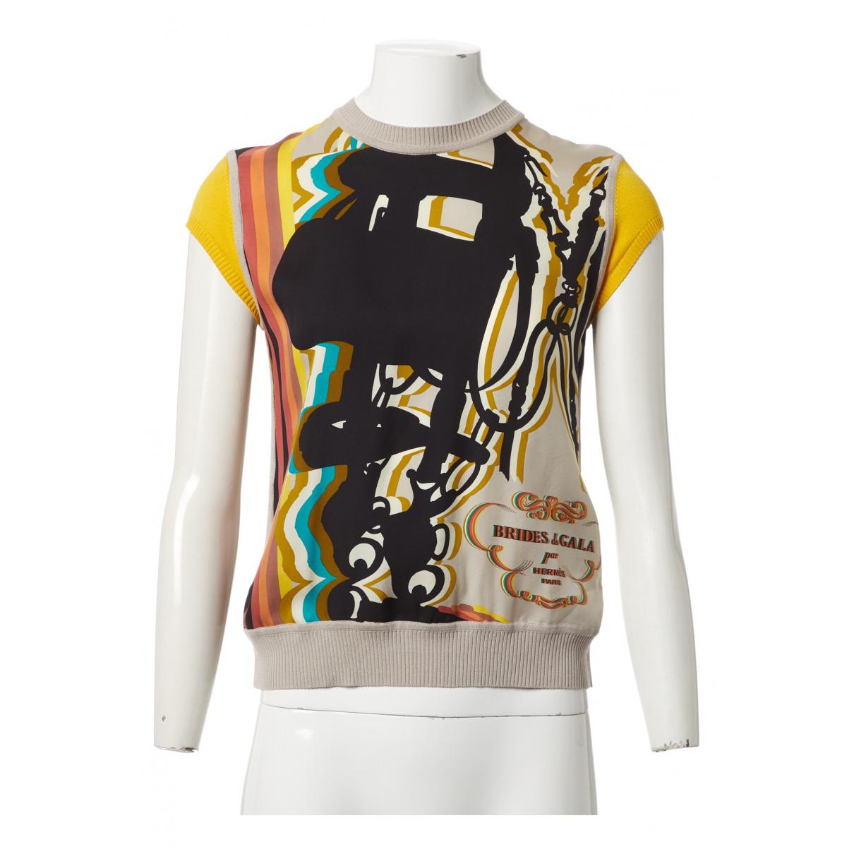 Hermès \N Multicolour Silk  top for Women 36 FR
