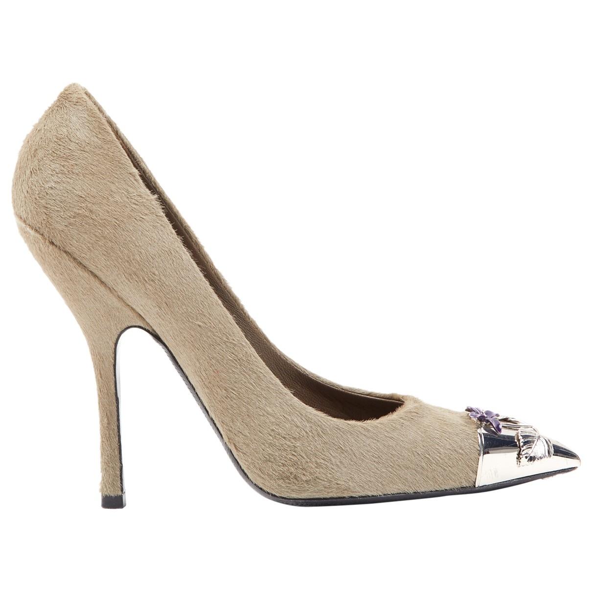 Louis Vuitton \N Grey Pony-style calfskin Heels for Women 38.5 EU