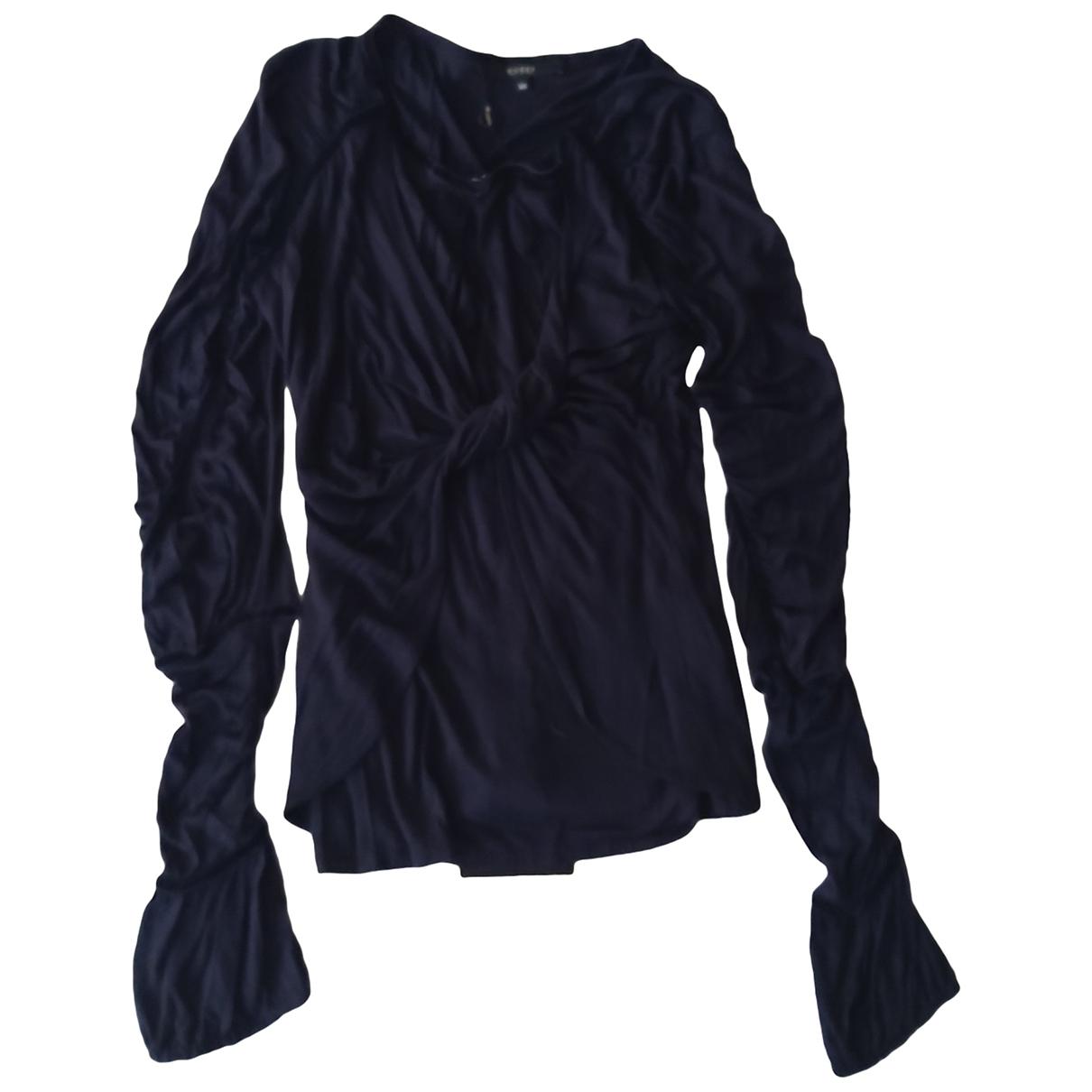 Gucci - Top   pour femme en soie - marine