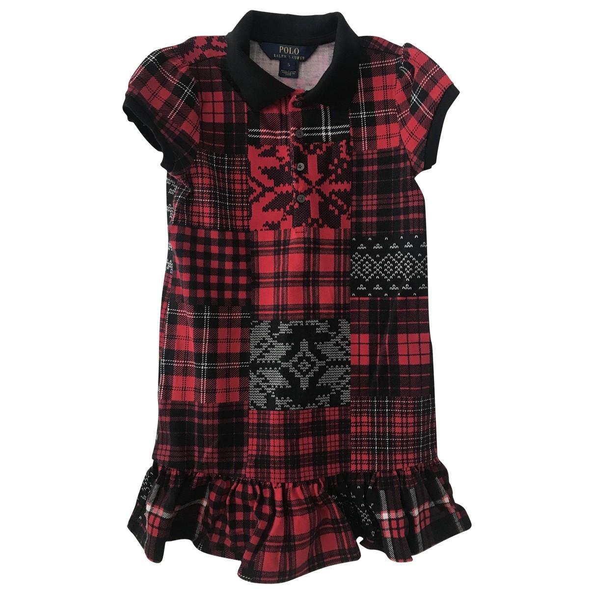 Polo Ralph Lauren \N Kleid in  Rot Baumwolle - Elasthan