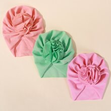 3 Stuecke Baby Einfarbiger Turban Hut