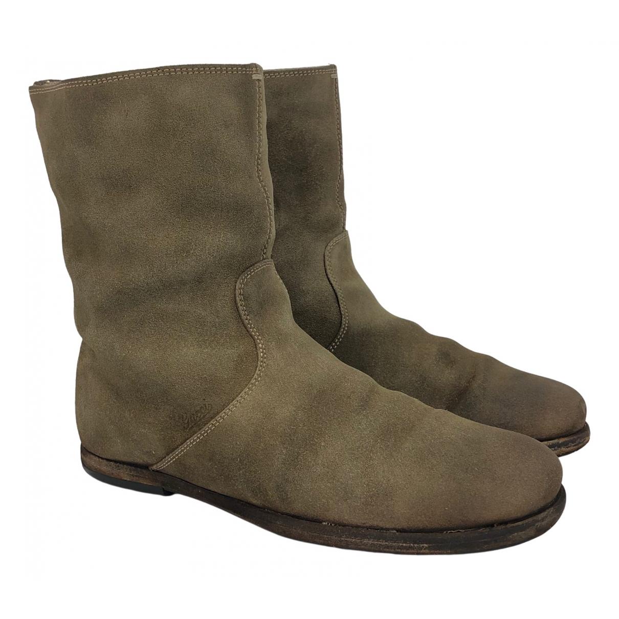Gucci \N Khaki Suede Boots for Men 41 EU