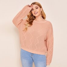Plus Solid Knit Sweater