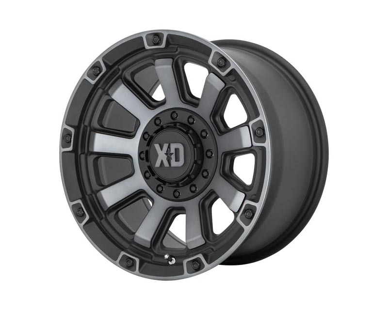 XD Series XD85229088400 Gauntlet Wheel 20x9 8X180 0mm Satin Black w/Gray Tint