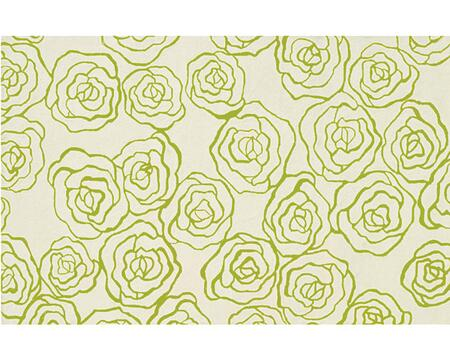 60017D 5 x 8 ft. Deco Rose Area Rug  in Ivory and