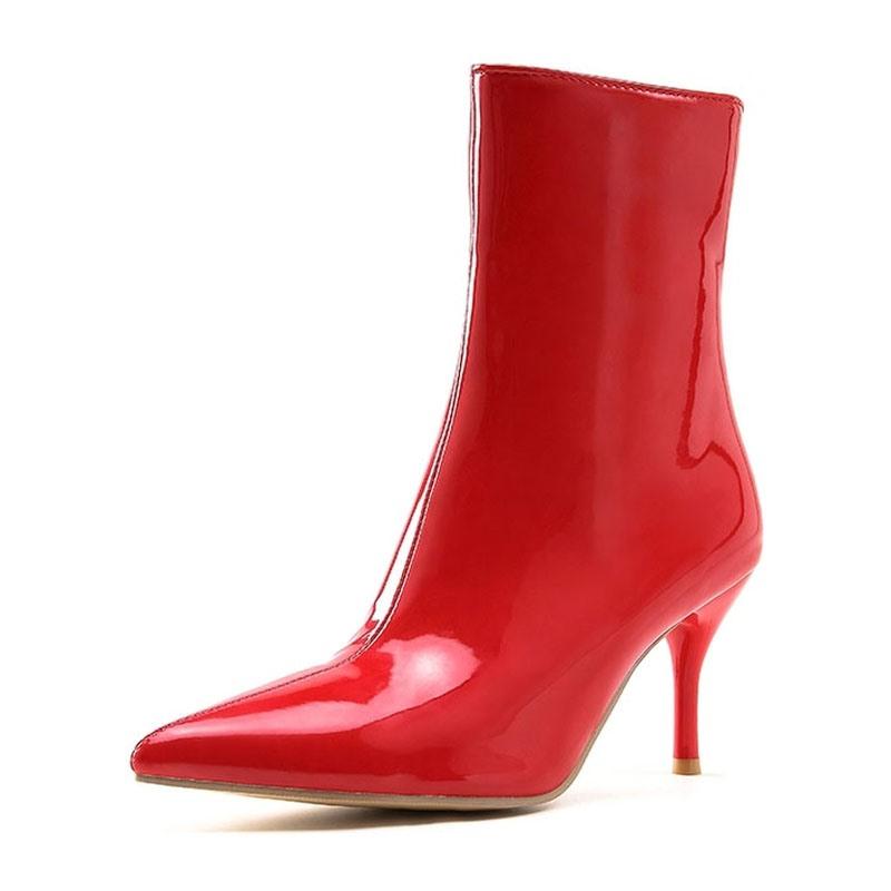 Ericdress Plain Zipper Stiletto Heel Stiletto Heel Women's Ankle Boots