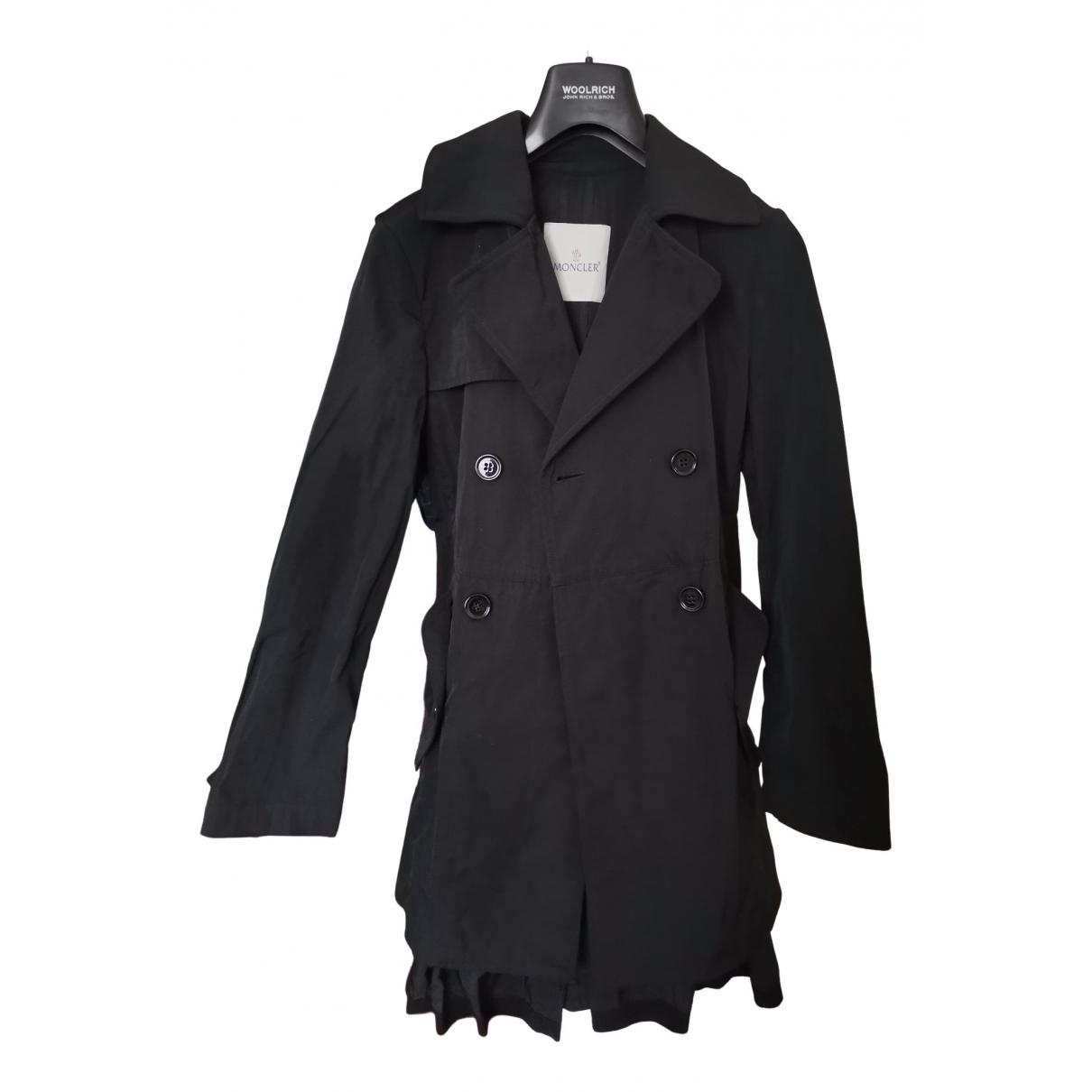 Moncler - Manteau   pour femme en coton - noir