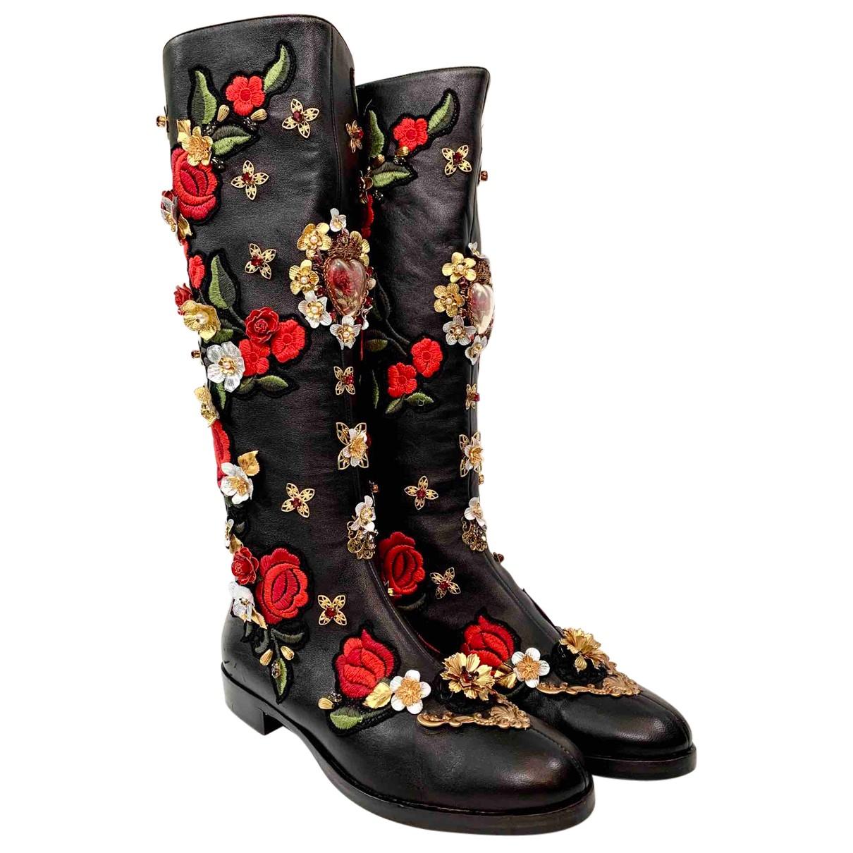 Dolce & Gabbana \N Stiefel in Leder