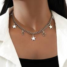 Star Chunky Chain Necklace
