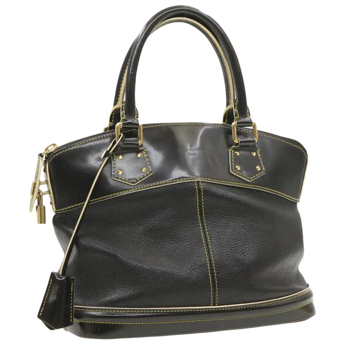 Louis Vuitton - Sac a main Lockit pour femme en cuir - noir