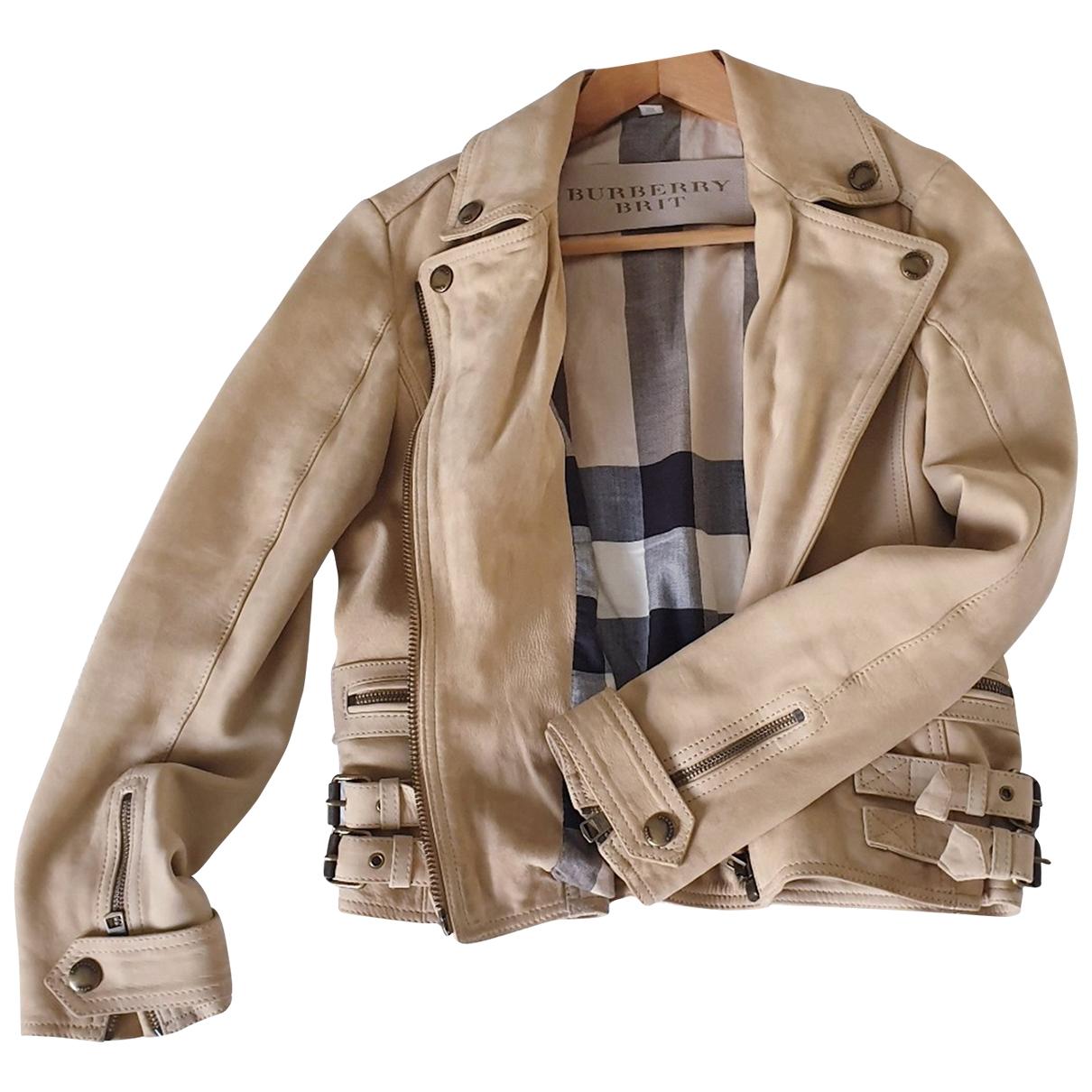 Burberry \N Beige Suede jacket for Women 42 IT