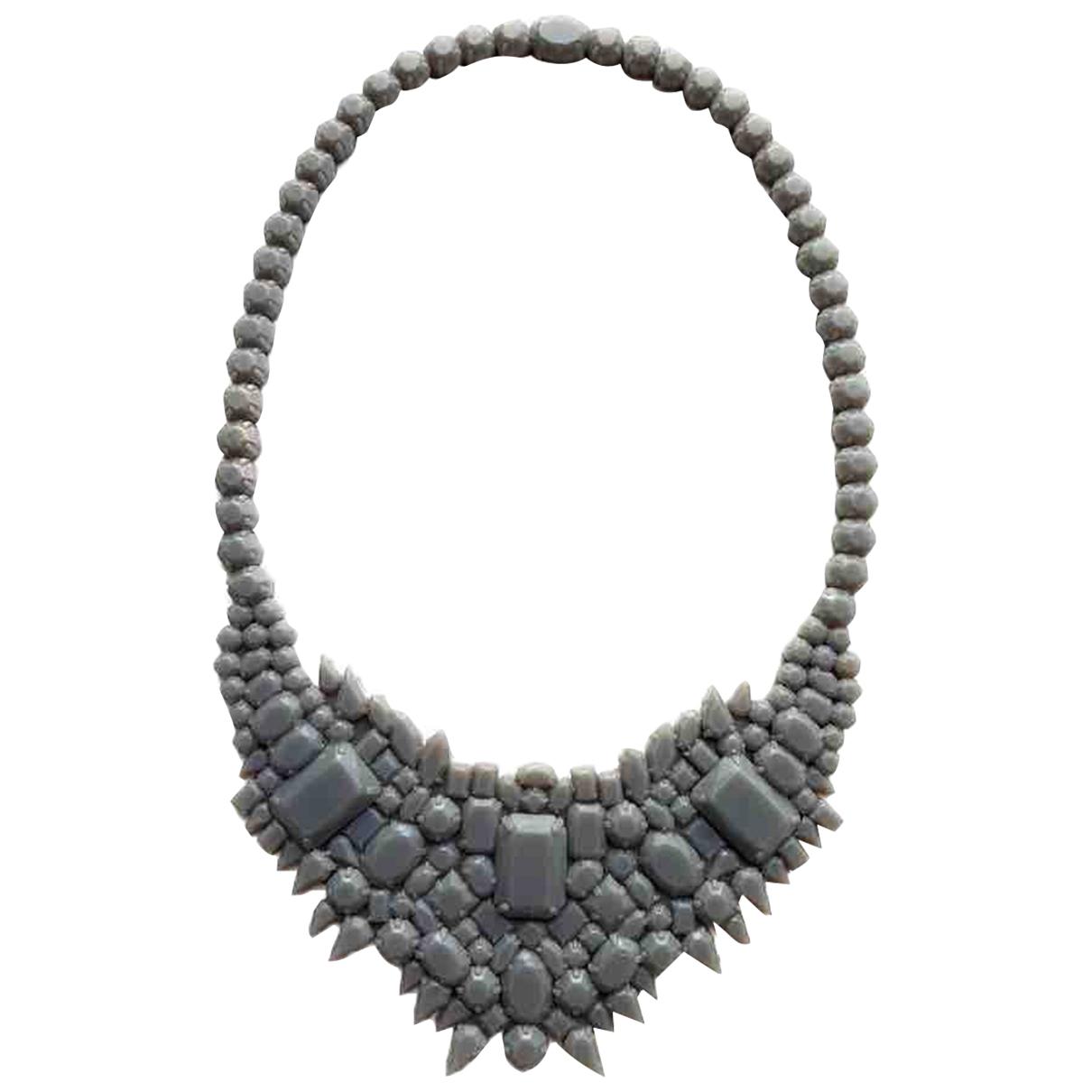 Ek Thongprasert - Collier   pour femme en metal - gris