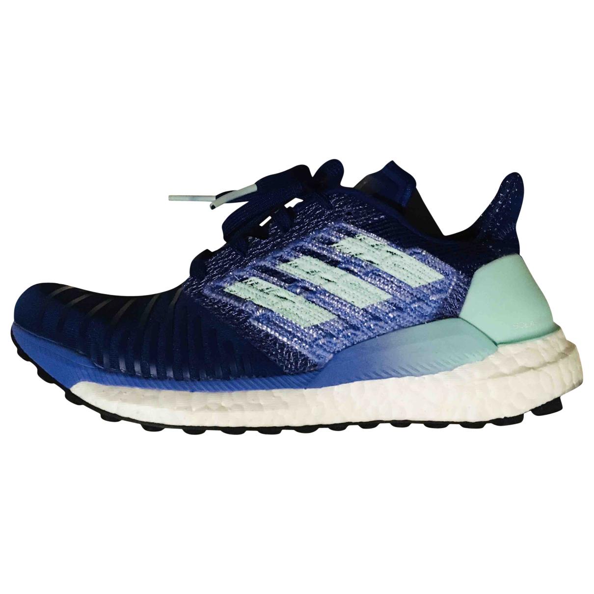 Adidas - Baskets   pour femme en toile - bleu