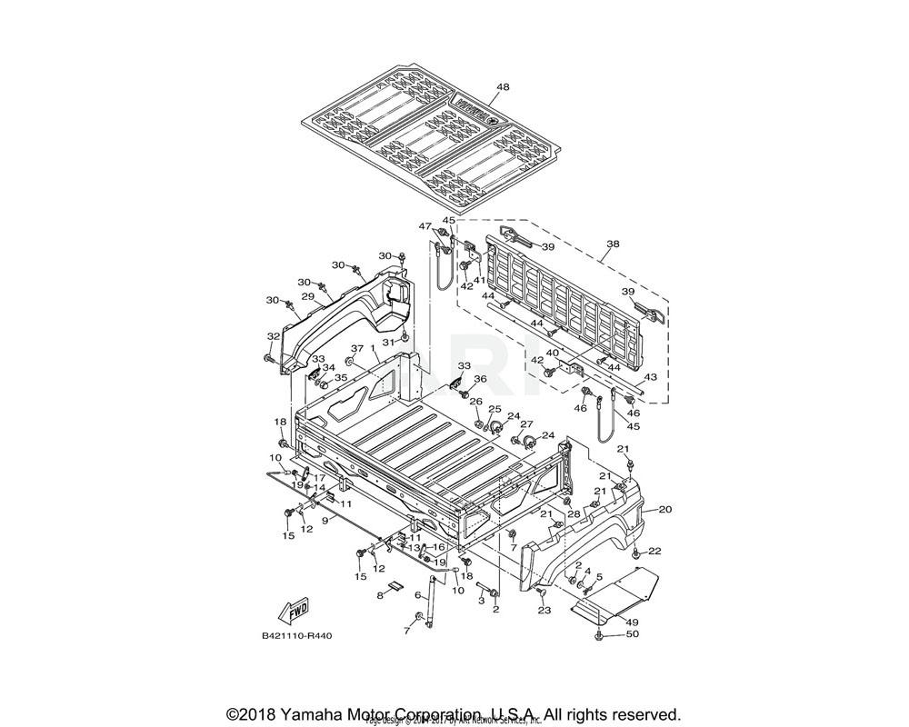 Yamaha OEM 1XD-K8191-00-00 PANEL, REAR FENDER 1 | UR FOR PDG