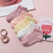5 pares calcetines con corazon