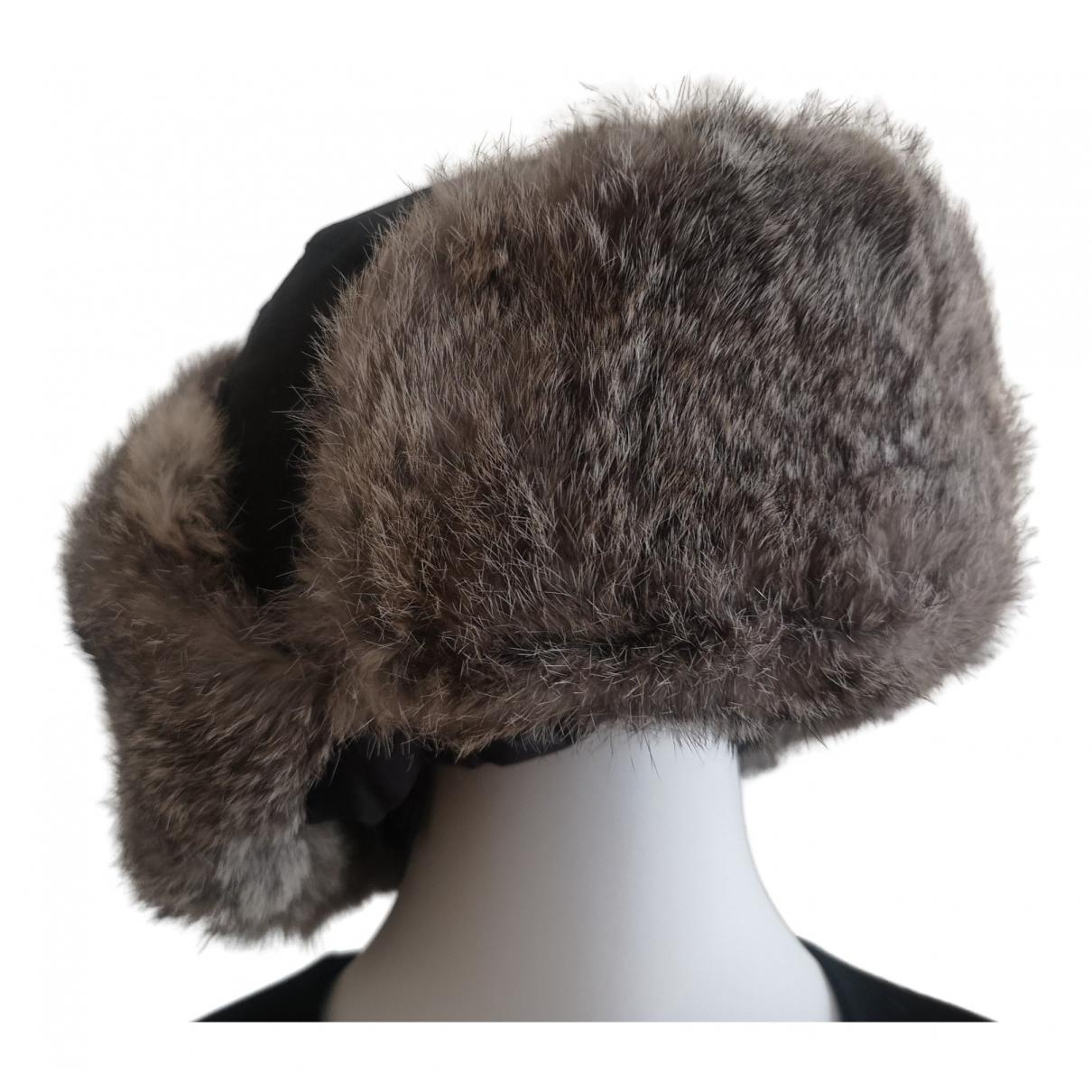 - Chapeau   pour femme en lapin - gris
