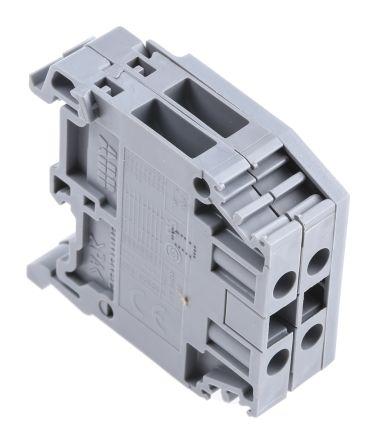 Entrelec Distribution Block, 2 Way, 4mm², 32A, 800 V, Grey