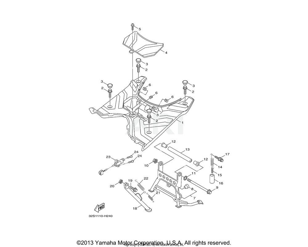 Yamaha OEM 5ML-F7121-00-00 BUSH