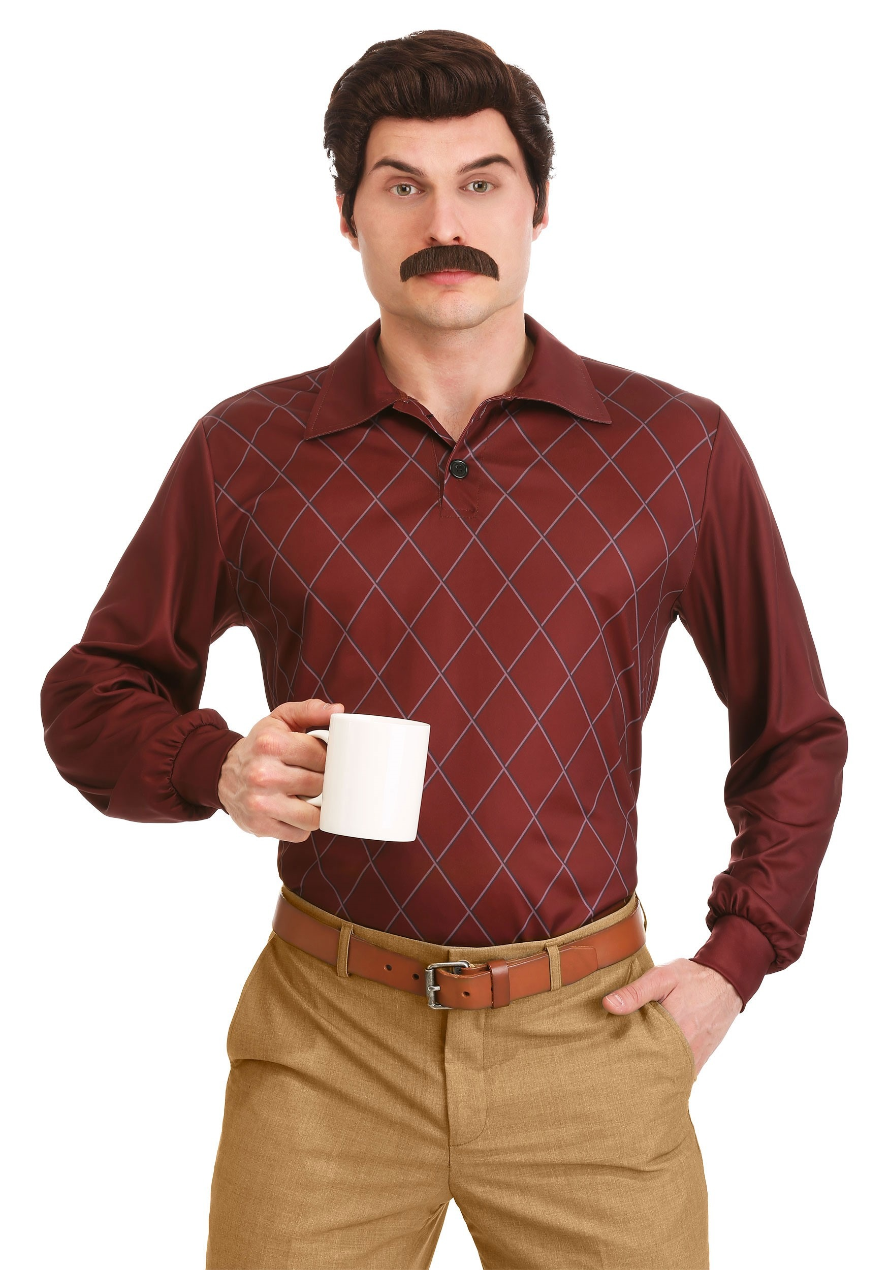 Parks and Recreation Ron Swanson Costume for Adults