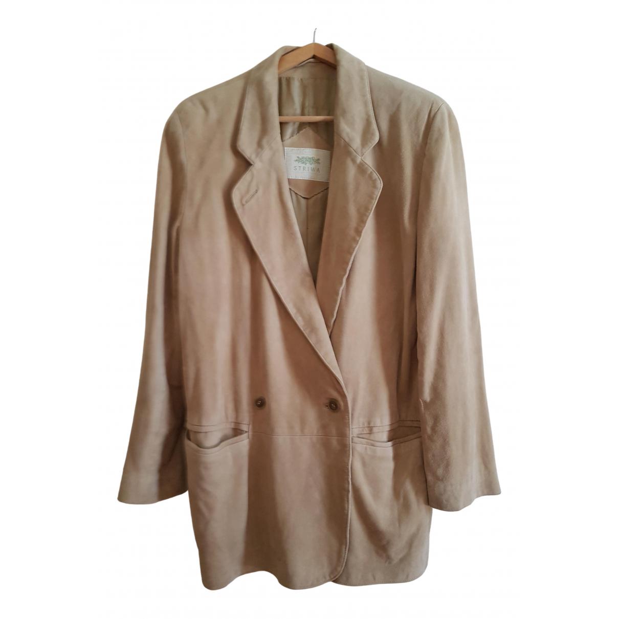 - Veste Oversize pour femme en suede - beige