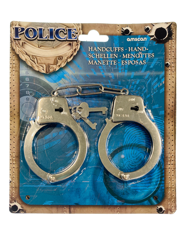 Kostuemzubehor Handschellen metall Kinder Farbe: silber