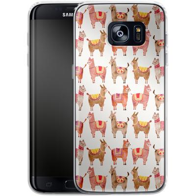 Samsung Galaxy S7 Edge Silikon Handyhuelle - Alpacas von Cat Coquillette