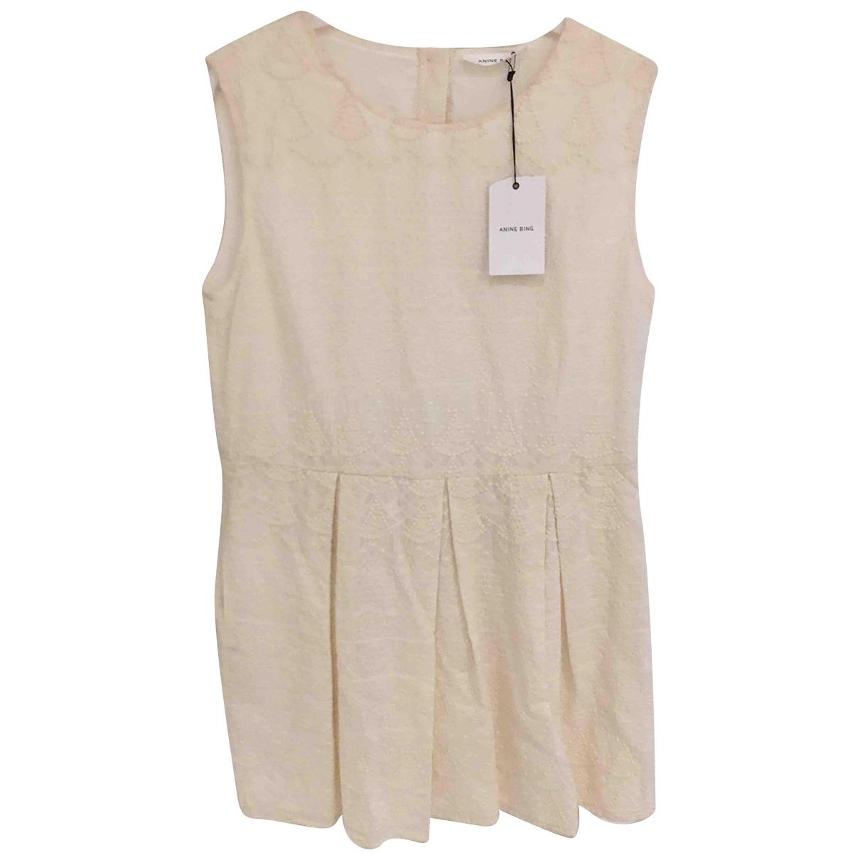 Anine Bing - Robe   pour femme en coton - beige
